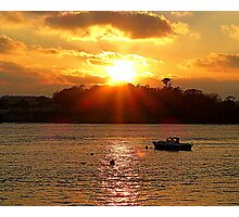 The Lone Fishing Boat Photographic Print