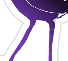 Purple Swamp Hen Sticker