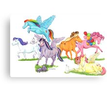 Little Ponies - My Little Pony Canvas Print