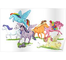 Little Ponies - My Little Pony Poster
