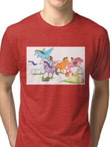 Little Ponies - My Little Pony Tri-blend T-Shirt