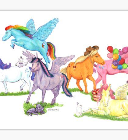 Little Ponies - My Little Pony Sticker