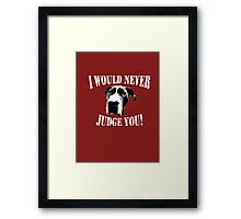 Pit bull love (option 2) Framed Print