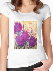 Purple Tulips Women's Fitted Scoop T-Shirt