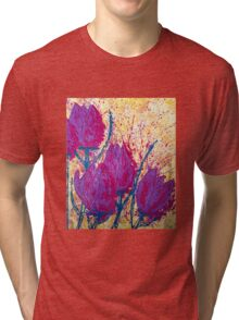Purple Tulips Tri-blend T-Shirt
