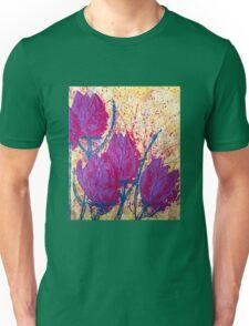 Purple Tulips Unisex T-Shirt