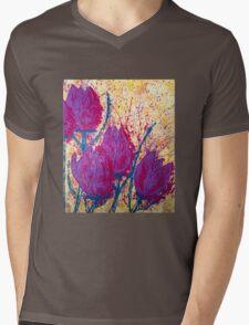Purple Tulips Mens V-Neck T-Shirt