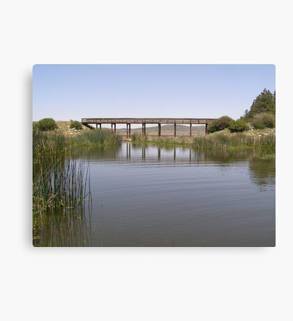 Mirrored Bridge Canvas Print