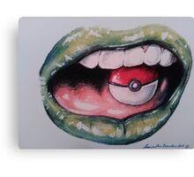 Lady Loves Pokemon Canvas Print