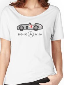 1954-55 Mercedes-Benz W196 Double f1 champion vector Women's Relaxed Fit T-Shirt