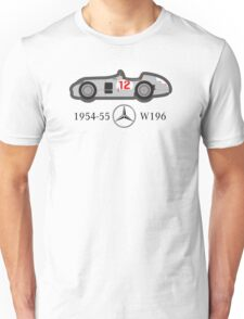 1954-55 Mercedes-Benz W196 Double f1 champion vector Unisex T-Shirt