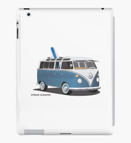 Hippie Split Window VW Bus Blue & Surfboard iPad Case/Skin
