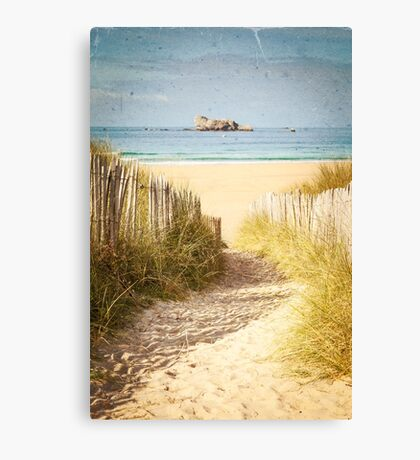 Vintage Beach Postcard Canvas Print