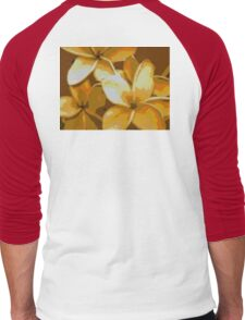 Earthtone Plumeria Men's Baseball ¾ T-Shirt