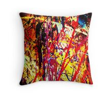 Brain Salad abstract painting Throw Pillow