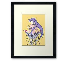 Bakemonogatari cover art work Framed Print