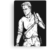 Uncharted - Nathan Drake Comic Style Canvas Print