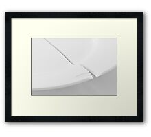Traces - Plate Framed Print