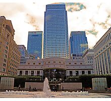 Canada Square in London UK Photographic Print