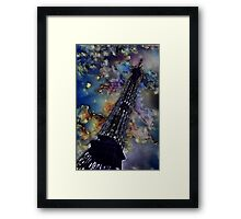 Vintage Eiffel Tower Abstract Framed Print
