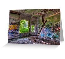 Brenton Point Stables Abandoned 2 Greeting Card