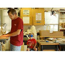 Men in the shop Photographic Print