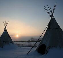 PLAINS CREE TIPI by Larry Trupp