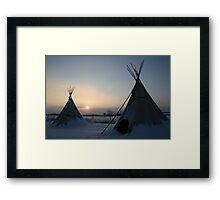 PLAINS CREE TIPI Framed Print