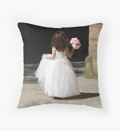 flowergirl Throw Pillow