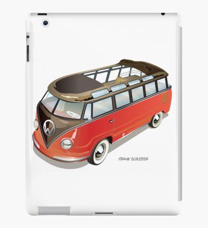 Split 23 Window VW Bus Red Black Old Style iPad Case/Skin