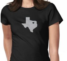 Dallas, TX Glitter State Womens Fitted T-Shirt