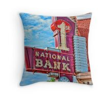 First National In Carlyle IL Throw Pillow