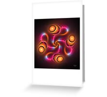 'Light Flame Abstract 249blk' Greeting Card