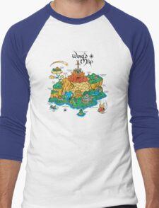 World Map  Men's Baseball ¾ T-Shirt