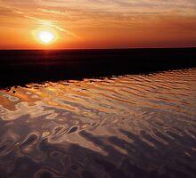 Ripple Sunset by John Donatiu