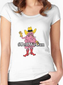 #JeffWeCan - Jeff the Diseased Lung Women's Fitted Scoop T-Shirt