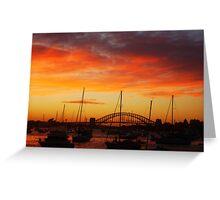 Sunset Sydney Harbour Bridge, Sydney, Australia. Greeting Card