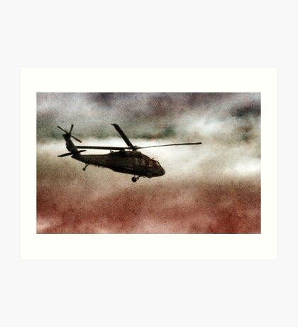 Military Copter Art Print
