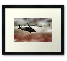 Military Copter Framed Print