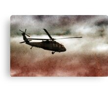Military Copter Canvas Print