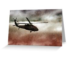 Military Copter Greeting Card