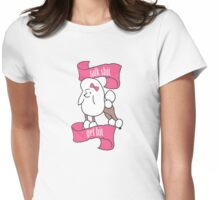 Talk shit, get hit - Vaguely Menacing Puppies with bows #1 Womens Fitted T-Shirt