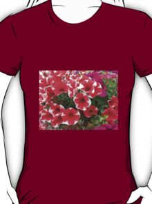 Red and White Petunias T-Shirt
