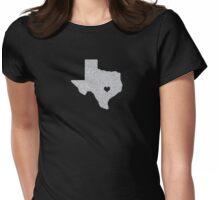 Austin, TX Glitter State Womens Fitted T-Shirt