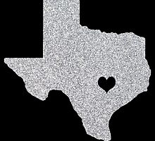 Austin, TX Glitter State by CraftyCreepers