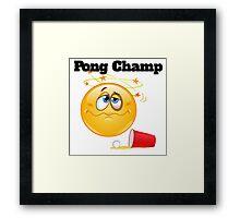 pong champ Framed Print