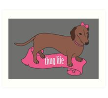 Thug Life - Vaguely Menacing Puppies with Bows #2 Art Print