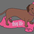 Thug Life - Vaguely Menacing Puppies with Bows #2 by pixelspin