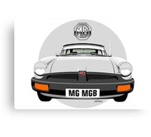 MG MGB rubber bumper white Canvas Print