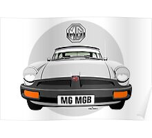 MG MGB rubber bumper white Poster